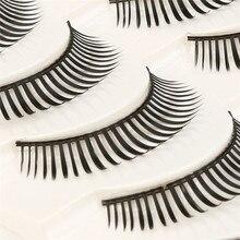 2017 Big sale! 5 Pair Fashion Natural Handmade Long False Black Eyelashes Makeup maquiagem