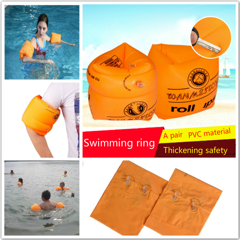 Thickening Inflatable Arm Swimming Ring Double Balloon Safety PVC Material Suitable For 15-90 kg Children And Adults