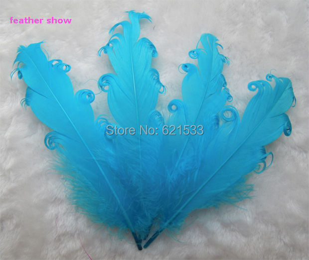 50pcs/lot!Sky Blue Nagorie Goose Feathers, 5-7,Loose Craft Feathers, Costume Design,Hair Feathers,Fascinator,Bridal Hair Piece