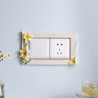 Switch Affixed Modern Simple Socket Protection Set Creative Living Room Resin Bedroom Wall Decoration Cute Switch Wall Stickers