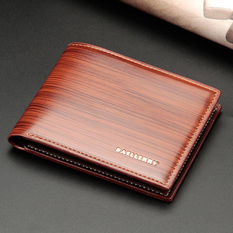 Men Short Purse PU Leather Card Holder Billfold Clutch Money Bag Casual Wallet New