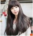 2015 Mais Novo Peluca Doce Japão e Coréia Do Sul As Mulheres Reta Longa Peruca Sintética Perucas Cap Cabelo Livre