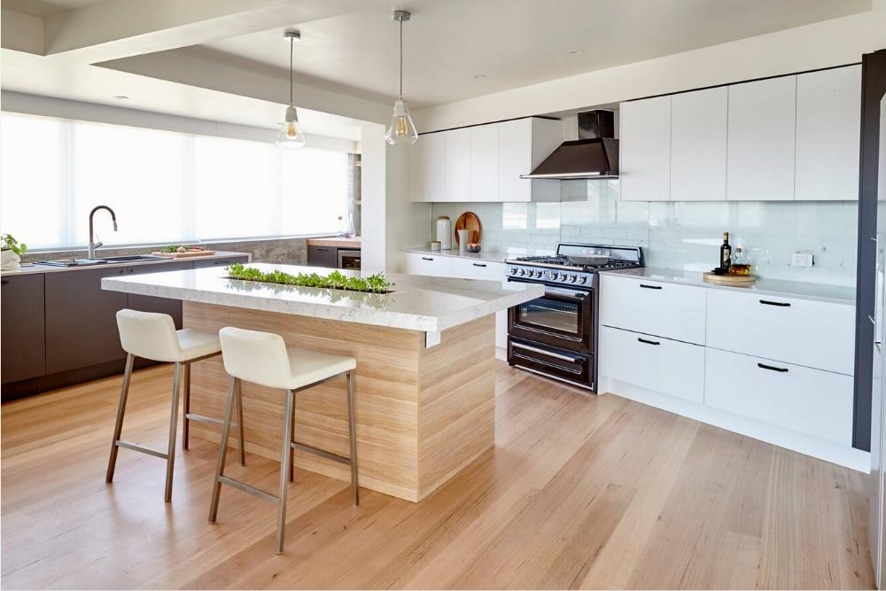 2017 два PAC кухонной мебели Китай поставщиков Новый дизайн мебель краской high gloss white lacquere модульный кухонный гарнитур