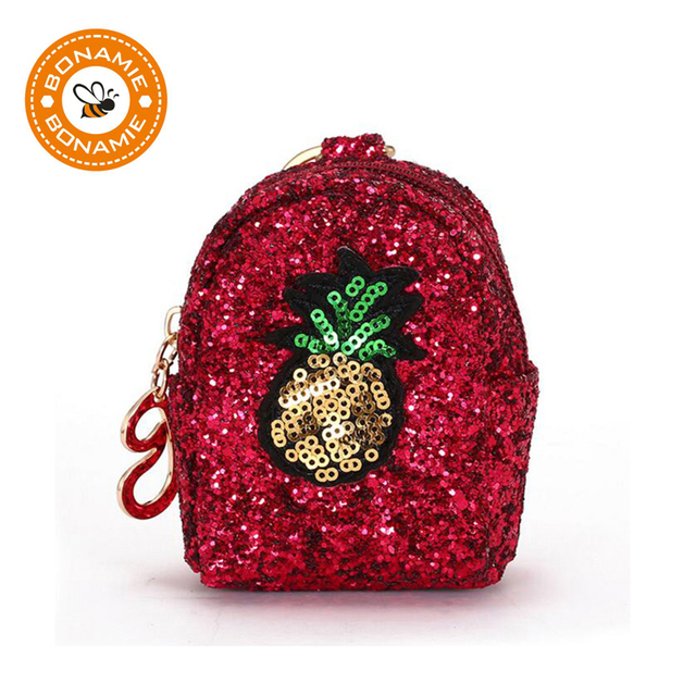 d009b664a6 BONAMIE Female Fashion Sequins Cartoon Embroidery Coin Purse Bling Bling  Woman Wallet Kid Purse Zipper Bag Paillette Money Bag-in Coin Purses from  ...