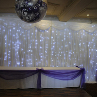Led star curtain light backdrop white 3 m high x 6 m long wedding backdrops banquet party wedding backdrop curtain with light