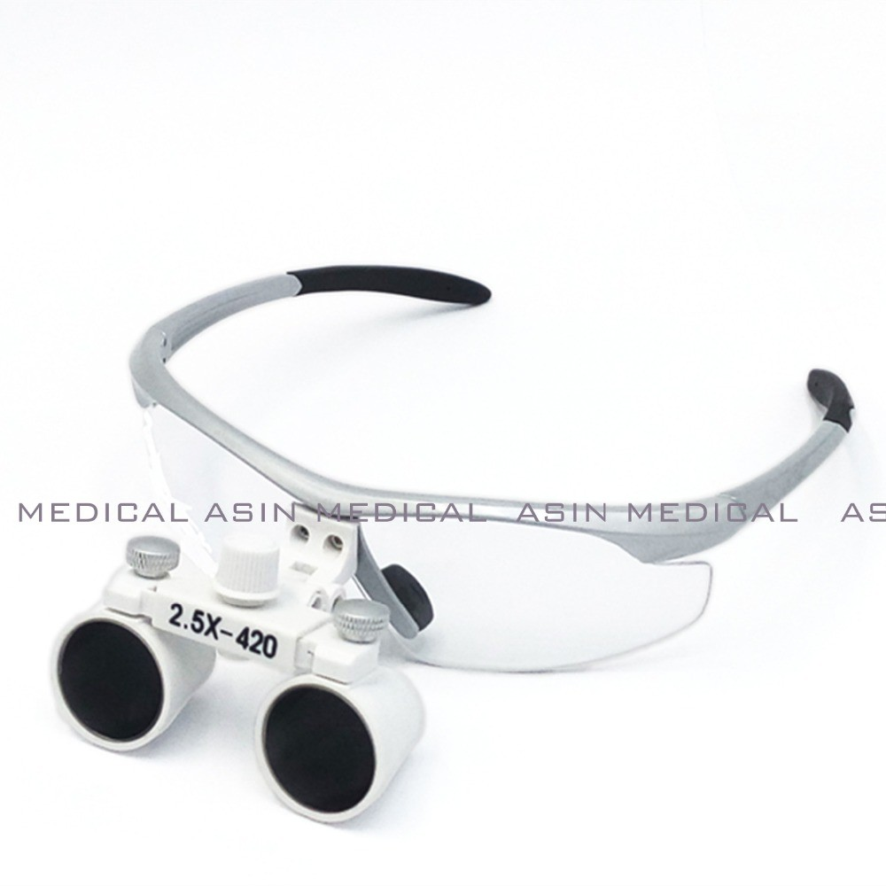 ФОТО High Quality 2017 New 2.5X420mm Dental Surgical Medical Binocular Loupes popular fashion design with Headband