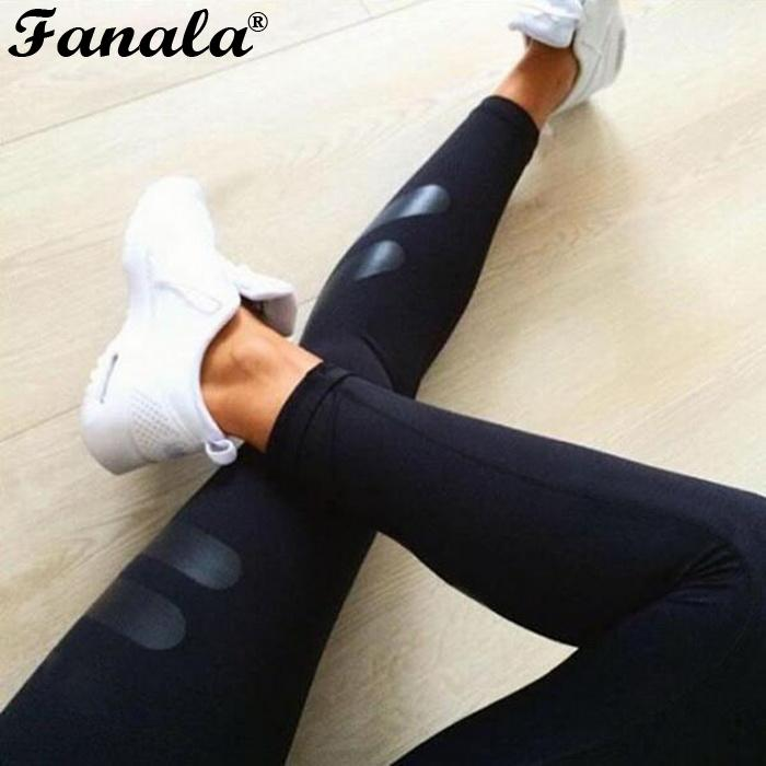 Stretchy Fashion Womens Workout Gym Sports Runnning Capri Leggings ...