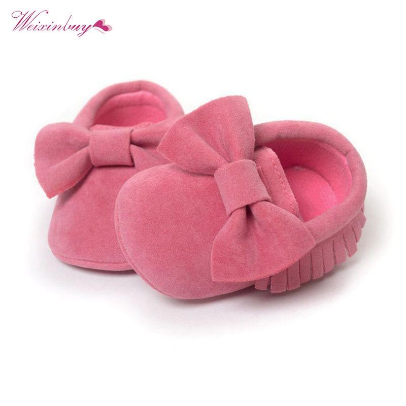 Newborn Baby Moccasins Infant Newborn Boy Girl Fringe Soft Soled Non-slip Footwear crib Shoes