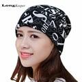 LongKeeper Mujer Hombre Sombreros de Invierno 2016 Nnew Gorros Sombreros de Invierno Letras Gorras Beanie Skulliess Balaclava Sombrero y Bufanda y Máscara 3 Maneras de Usar