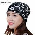 LongKeeper Women Men Winter Hats 2016 Nnew Beanies Winter Hats Letters Caps Beanie Balaclava Skulliess Hat&Scarf&Mask 3 Ways Use