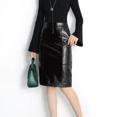 2018 New Fashion Genuine Sheep Leather Skirt E1 1