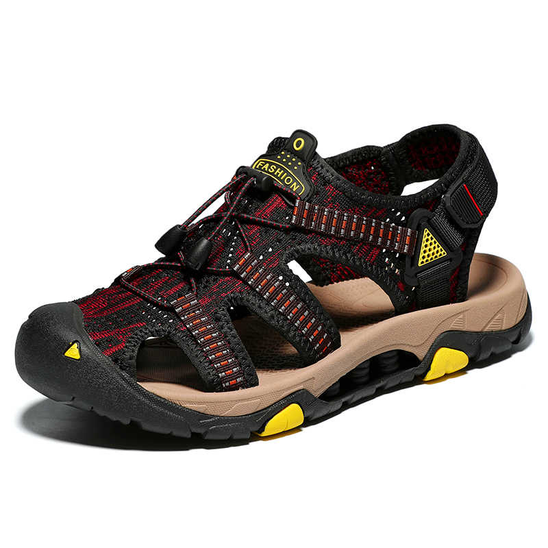 Hemmyi 夏品質サンダル男性トレッキング革カジュアル通気性アウトドアスポーツサンダル男性スニーカー屋外ビーチ shoeswear