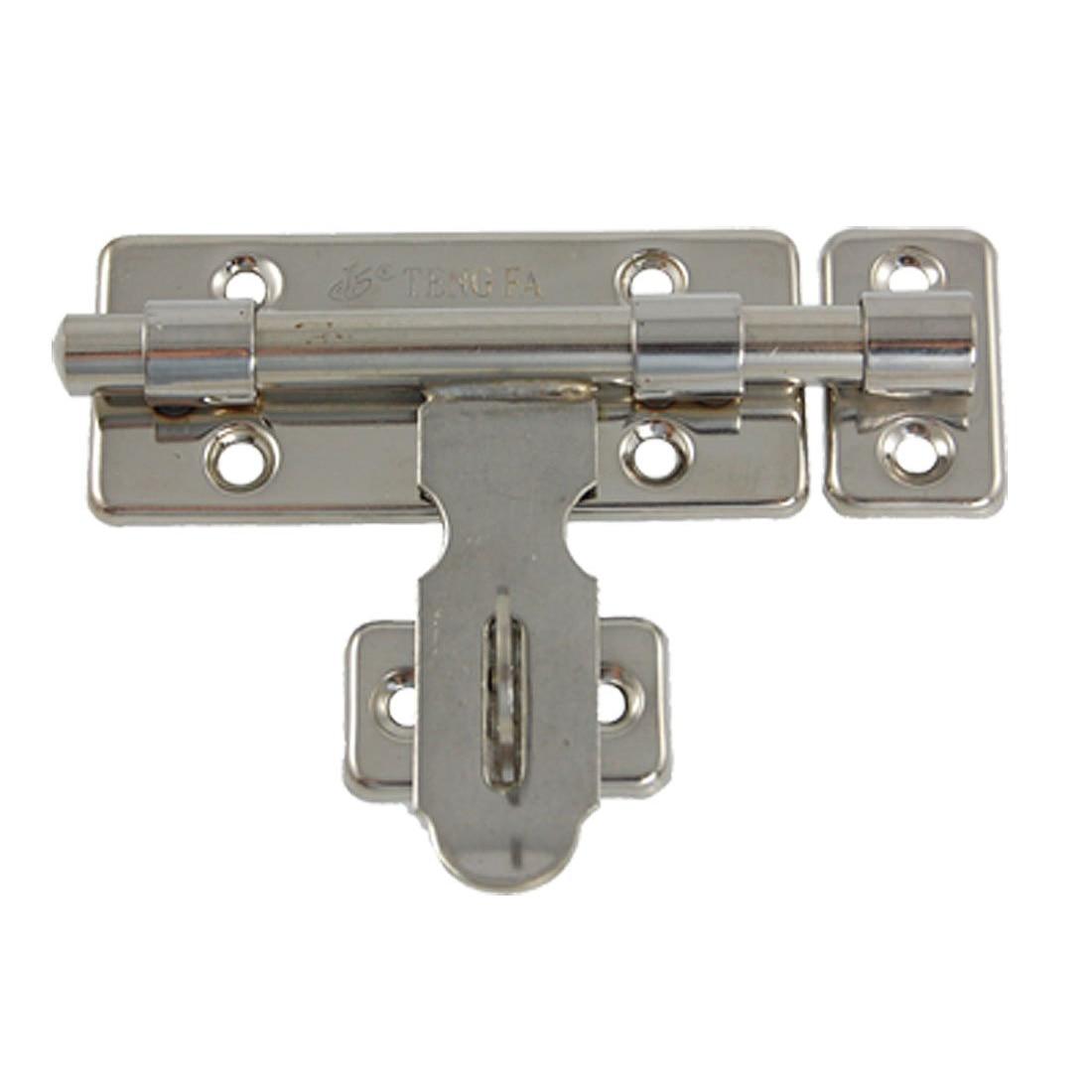 Front Door Bolts Part - 34: EWS Top Quality Hardware Door Lock Barrel Bolt Latch Padlock Clasp Set Free  Shipping(China