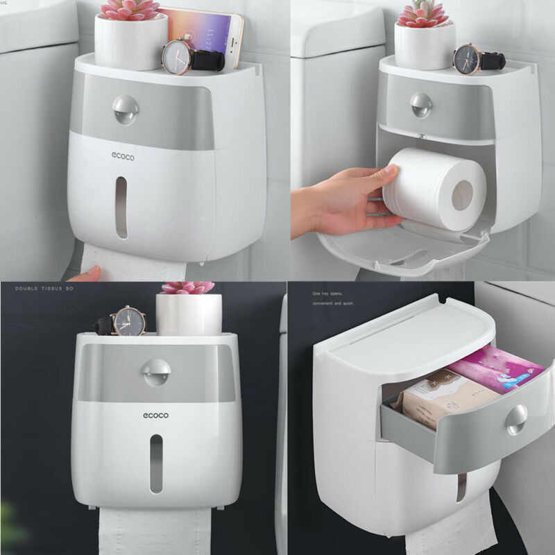 Waterproof Wall Mount Toilet Paper Holder Towel For Bathroom Tissue Paper Box Rack Bathroom Toilet Tissue Paper Wall Mounted Hot