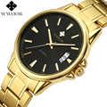 New Men's Watches Gold Business Waterproof Sport Quartz Watch Men Brand Luxury WWOOR Date Clock Male Stainless Steel Wrist Watch
