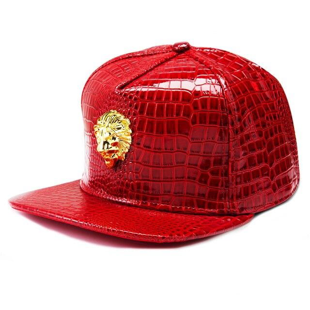 NYUK Wholesale Hip Hop Flat Brimmed Baseball Cap Snapback Caps Metal Lion  Head Hats Men Personalized 685b9075661a