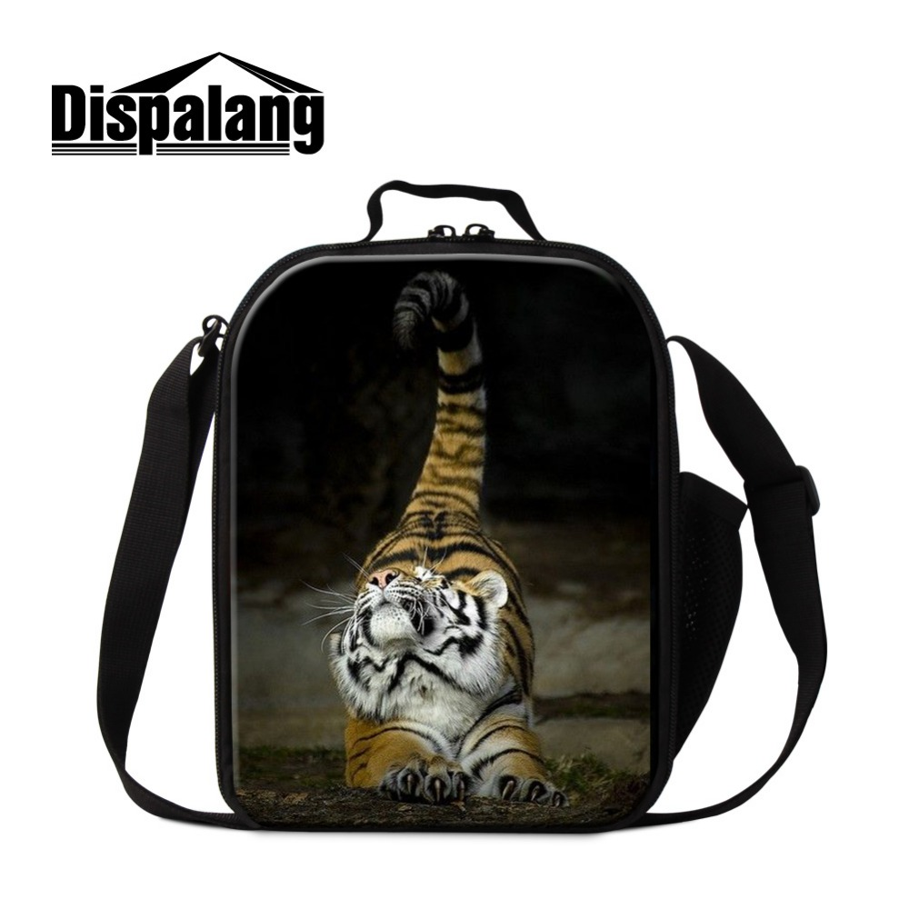 tiger lunch bags for boys teenager lunch cooler bags for school animal dog wolf insulated lunch container for kids lunch box bag