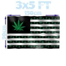 Benfactory loja 3x5 pés folha de erva daninha eua bandeira americana com ilhós de bronze para interior e exterior