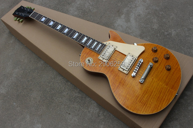 Custom Exclusive Lp Standard Electric Guitar Handmade Relic One Piece Neck Body Lacquer Paint