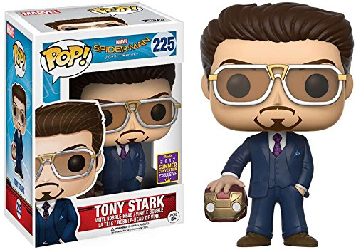 2017 SDCC Exclusive Funko pop Official Spiderman - Tony Stark Holding Helmet Vinyl Action Action Figure Collectible Model Toy official funko pop marvel x men logan wolverine vinyl action figure collectible model toy with original box