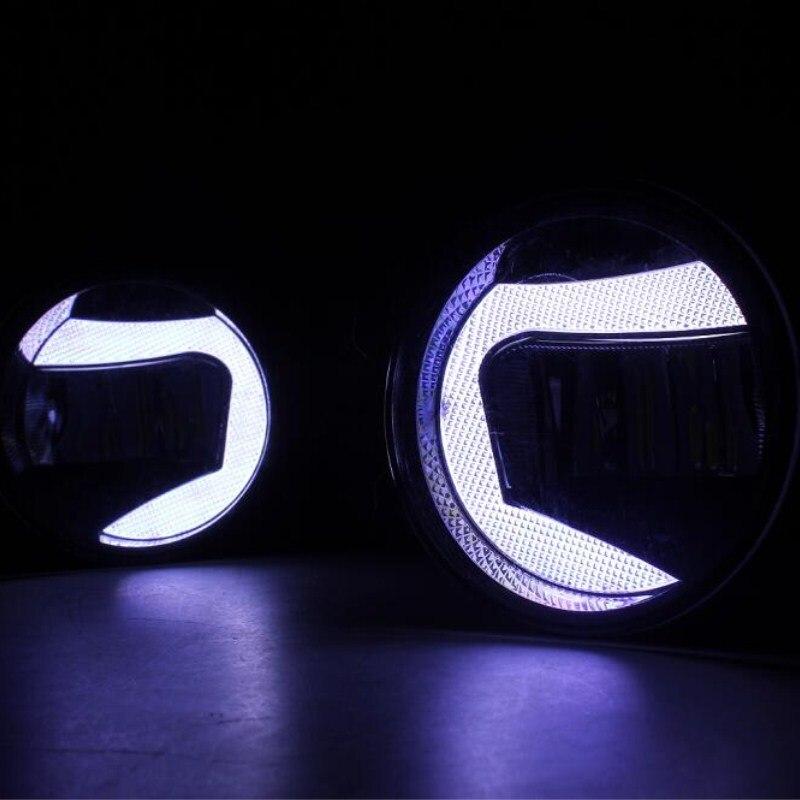 2в1 выделить светодиодные DRL фары дневного света +светодиодные Противотуманные фары для Тойота хайлендер 2009 2010 2011 myvi 1.3/1.5 2012