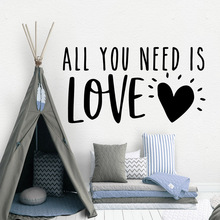 New Design all you need is love Wall Decal Living Room Removable Mural For Living Room Bedroom Wall Decal Home Decor
