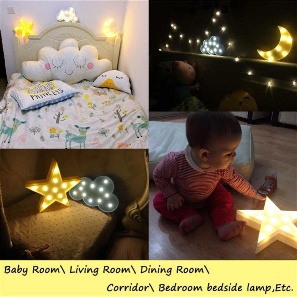 HTB1gGDqgDZmx1VjSZFGq6yx2XXaq Lovely Cloud Star Moon LED 3D Light Night Light Kids Gift Toy For Baby Children Bedroom Tolilet Lamp Decoration Indoor Lighting