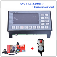 DDCSV1.1 500KHz CNC 4 Axis Engraving Machine Controller Motion Control System G Code Stepper Motor Driver+Electronic Hand Wheel
