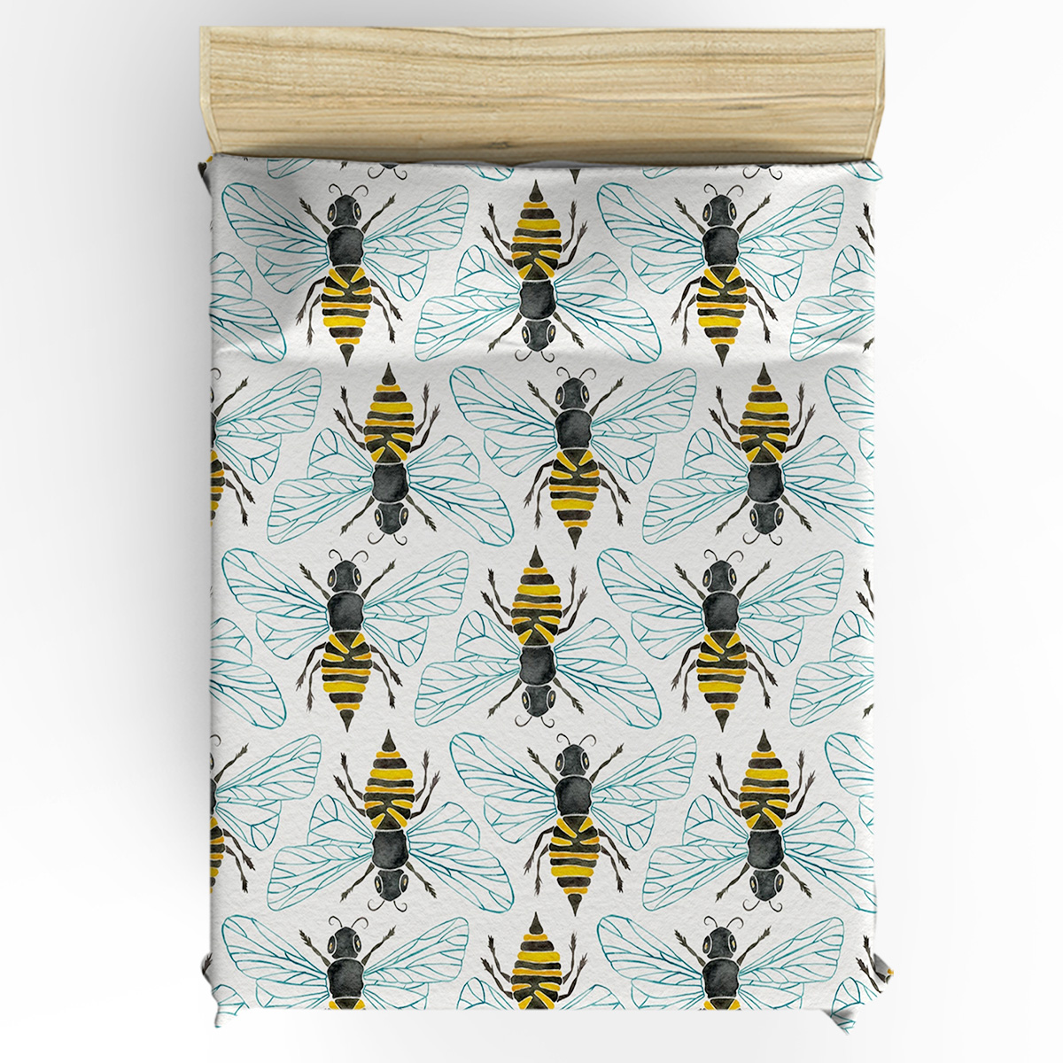 Miel abeille housse de couette 3D coton housse de couette King Size reine taille housse de couette ensemble literie couette unique ensembles de literie - 2