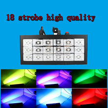 Hot sale 18 LED 35W Strobe light DJ disco club Voice Activated RGB stage effect lighting home party light