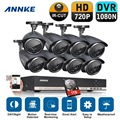 Annke 8ch 960 h hd dvr vídeo cctv sistema de segurança 8 pcs 720 P 1.0MP IR CCTV Câmeras de Segurança ao ar livre Kits de Vigilância 1 tb hdd