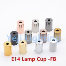 E14 lamp holder cover Retro vintage E14 socket lamp holder iron lamp cup for candle light chandelier led pendant light bases DIY(China)