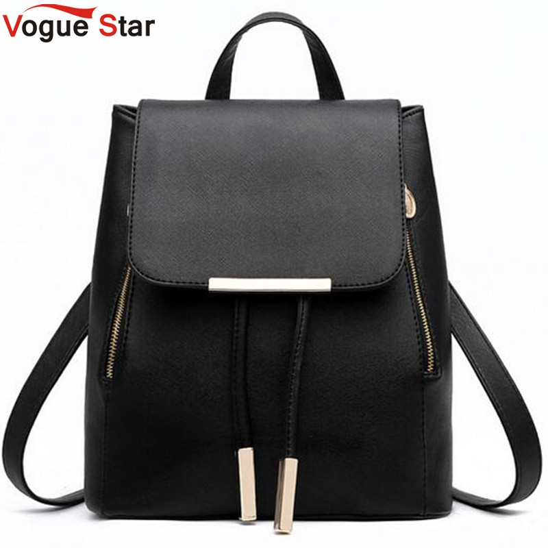 Vogue Star Fashion women backpack school backpacks for teenage girls women leather backpack school bags mochila LS135 children school bag minecraft cartoon backpack pupils printing school bags hot game backpacks for boys and girls mochila escolar