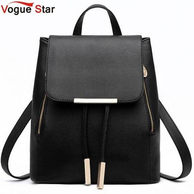 4e3461e00198 Vogue Звездная мода женские рюкзак школьный рюкзаки для девочек-подростков женские  кожаные Рюкзак Школьные сумки