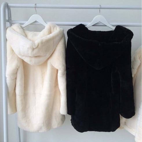 Genuine Rex Rabbit Fur Coat Pull Pelt Rabbit Fur Jacket Women Coat Winter Fur Waistcoats Customized  Free Shipping J691