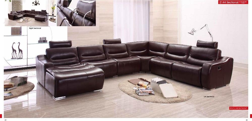ღ ღKoe echt/real lederen bankstel woonkamer sofa sectionele ...