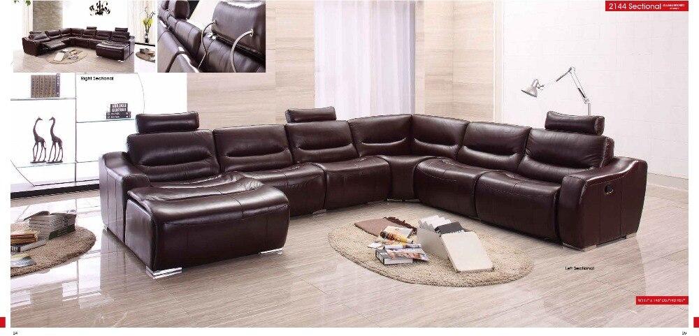 Vaca genuino/cuero real sofá de la Sala sofá seccional/esquina sofá ...