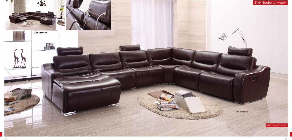 Cow Genuine/real Leather Sofa Set Living Room Sofa Sectional/corner Sofa  Set Home Part 29