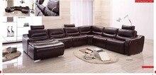 cow genuine/real leather sofa set living room sofa sectional/corner sofa set home furniture couch/sofa setional U shape big size