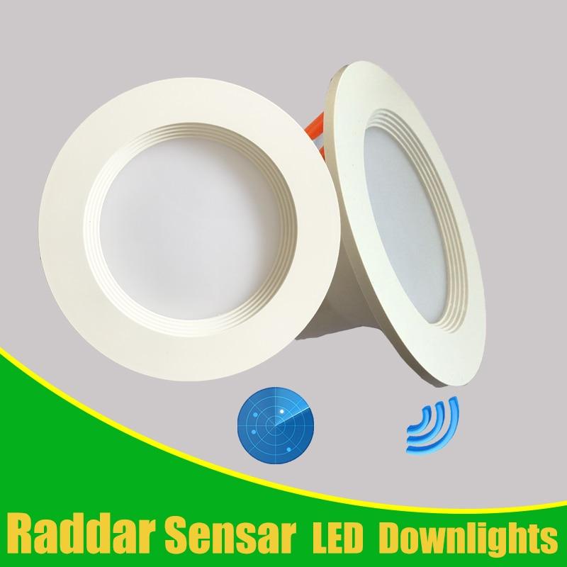 Radar Motion Sensor Led Downlight Radar Sensor Light 5W 7W Round Recessed 110/220V Led Bulb for Indoor Aisle Corridor Verandah