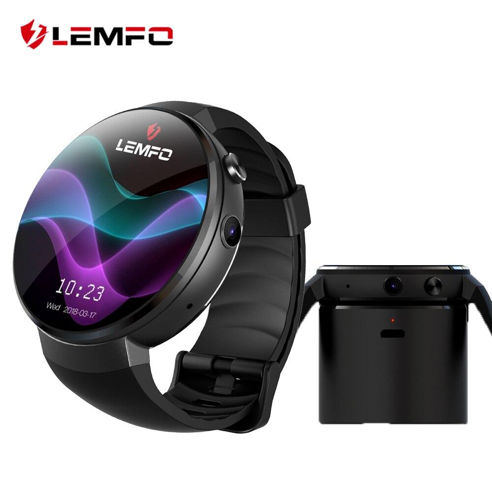 LEMFO LEM7 4 г Смарт-часы Android 7,0 с сим 2MP Камера gps WI-FI MTK6737 1 ГБ + 16 ГБ smartwatch телефон Для мужчин Носимых устройств