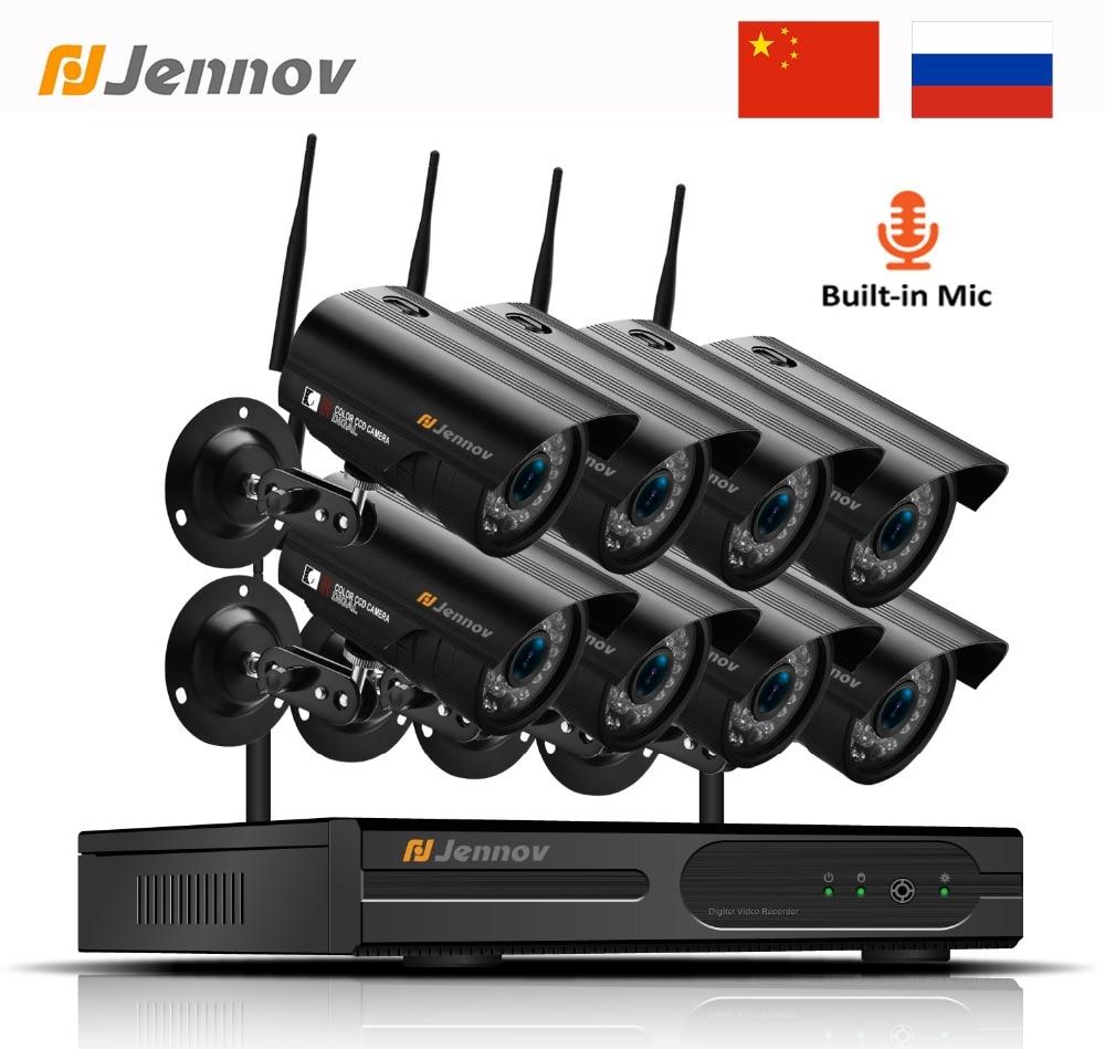 "Techage 4CH 1080P Wireless 12.0/"" LCD Monitor NVR 2MP Wifi Audio IP Camera System"