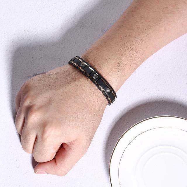 Bracelet magnétique Viking noir 2