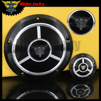 Riderjacky Motorcycle Black Derby Cover&Timer Timing Cover For Harley Touring Dyna 99 15 Softail 99 later Twin Cam 1999 14 15 16