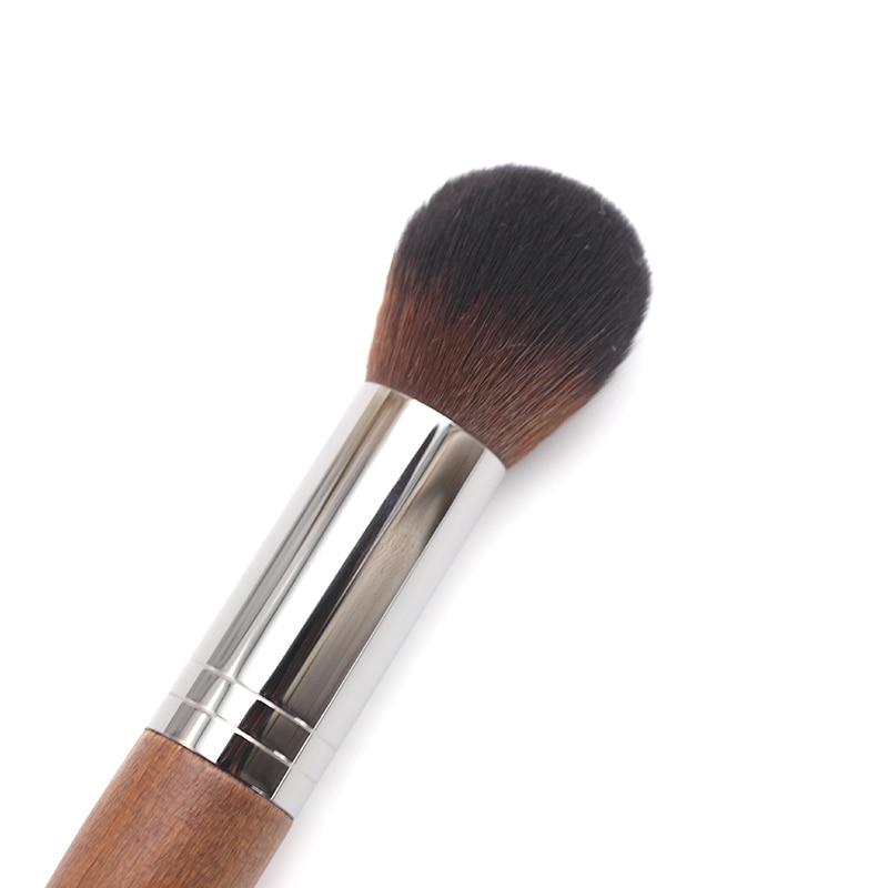 Tesoura de Maquiagem highlighter pó médio rodada rosto Material do Cabo : Madeira