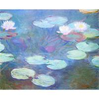 landscape oil painting Water Lilies Pink modern Claude Monet large wall pictures canvas art home decor