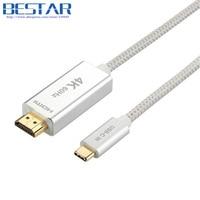 2017 New Braided Support 4K 60Hz 1M 2M 3M USB 3 1 Type C Type C