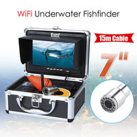 EYOYO WIFI Ice Fishing Camera 7 LCD Monitor 15M HD 1000TVL Waterproof Underwater Fishing Camera Night