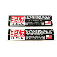 RPMMOTOR 2 pcs aluminum Motorcycle reflective applique sticker exhaust pipe electric pedal automobile yoshimura stickers