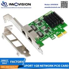 цена на High speed dual port PCI-E X1 interface Gigabit LAN server NIC convergence soft routing 1000Mbps Ethernet
